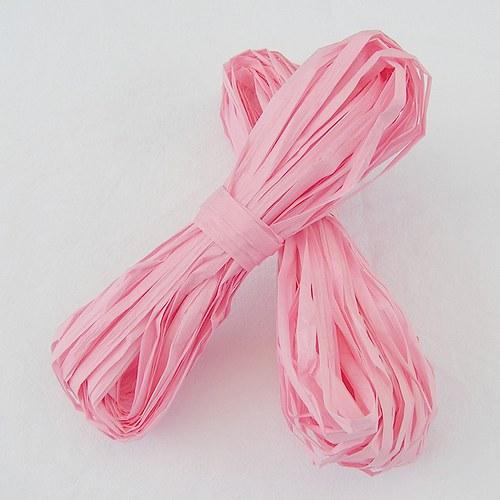 Světle růžové papírové lýko - 20 m