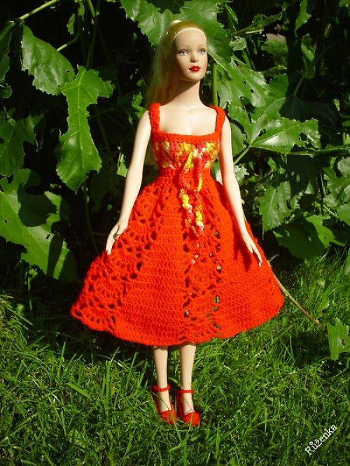 Letní šatečky na panenku Tonner