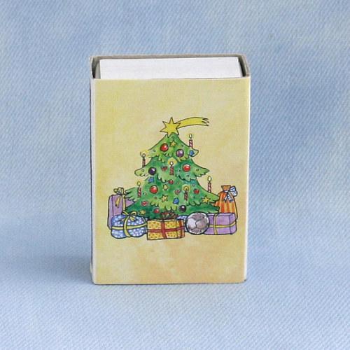 Obrázkové zápalky - vánoční stromeček