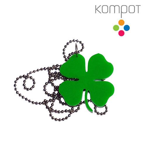 ČTYŘLÍSTEK, náhrdelník :: zelený