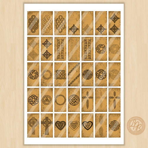 Domino motivy Keltská inspirace (DOM0001)