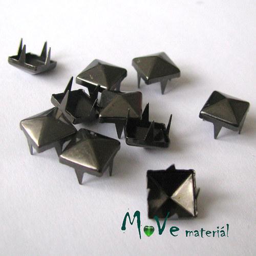 Cvočky na oblečení 7x7mm pyramida, 10ks, antracit