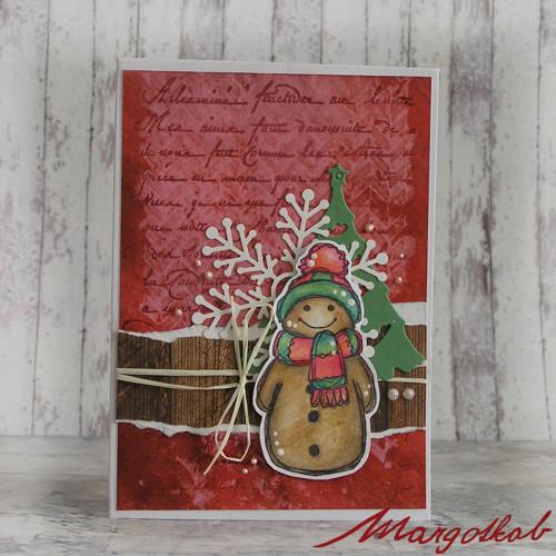 Vánoční přání perníček červený