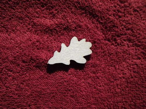TP3D0279 - 2D výřez list dubu malý čistý - 4x2,5cm