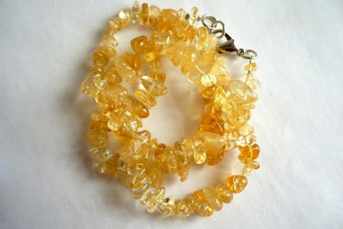 Minerální zlomky 45 cm - citrín kulatý