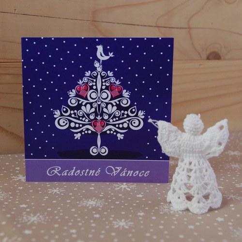 Vánoční přání - Stromeček IV ŠŤASTNÉ VÁNOCE