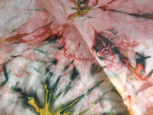 hedvábný šátek batika