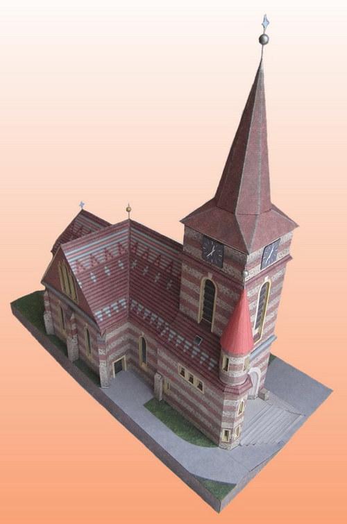 Papírový model - Kostel Bílovice nad Svitavou