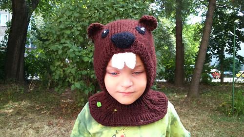 Dětská zimní kukla Bobr