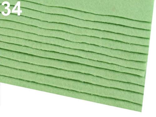 Arch plsti - filcu- 20x 30 cm : Zelená pastelová
