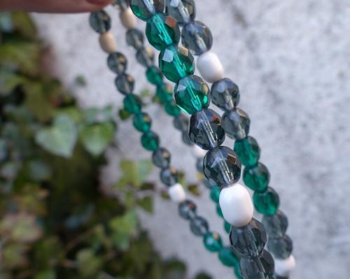 Procházka lesem...skleněný náhrdelník, Jablonecko