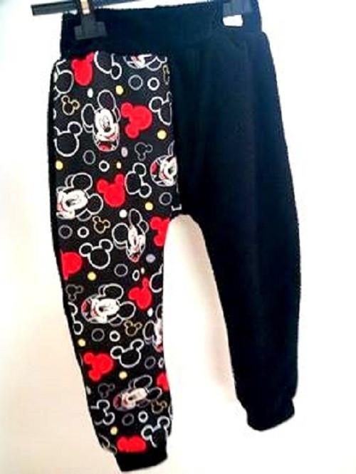 Baggy, tepláky, kalhoty Mickey červená