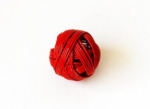 Kulička z drátu 18mm - červená