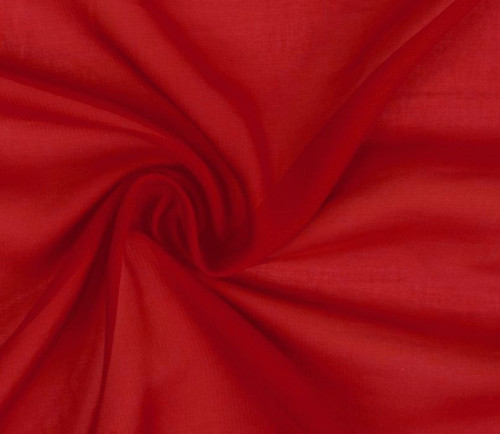Červený šifon