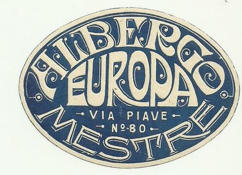 Hotelové nálepky Albergo Europa