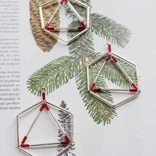 Vánoční ozdoba červenostříbrná