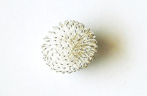 Kulička z drátu - stříbrná