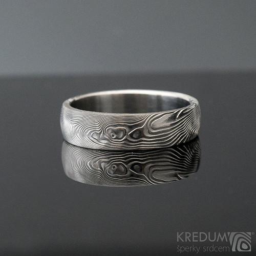 Snubní prsten nerez ocel Damasteel - Prima, sk1299