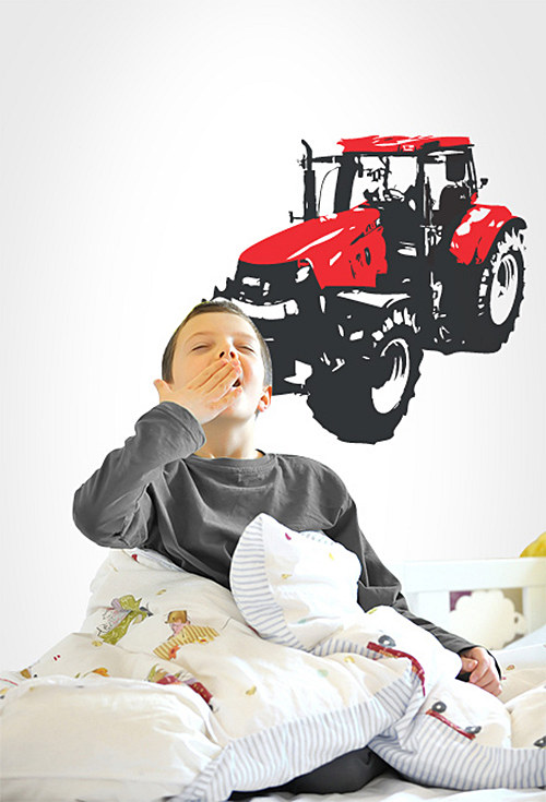 Traktor - samolepka na zeď