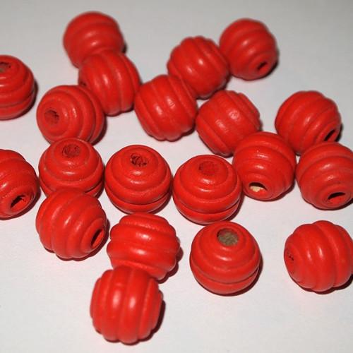 Dřevěné korálky -  15 kulička vroubková(cena 20ks)
