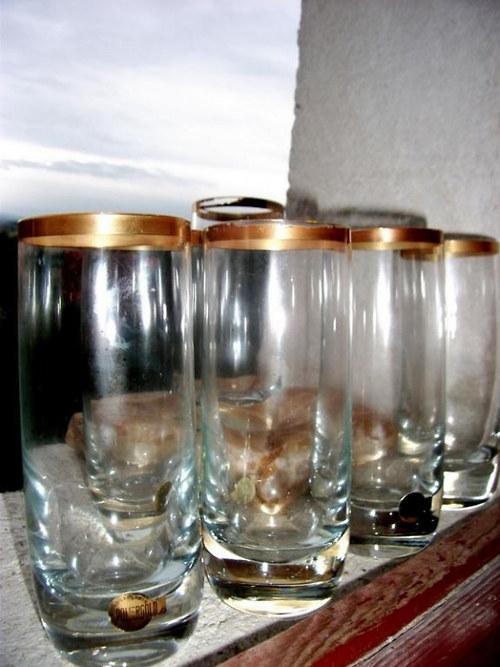 6 sklenic- zlacené