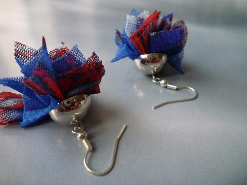 Modré karafiátky - náušnice