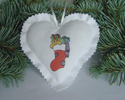 Vánoční srdíčko 26