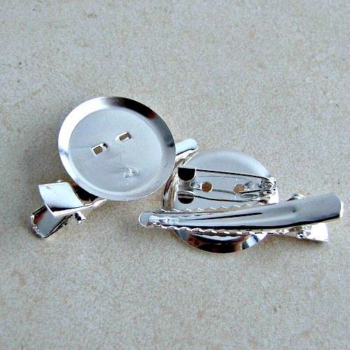 Brožový můstek 1 ks - stříbrná
