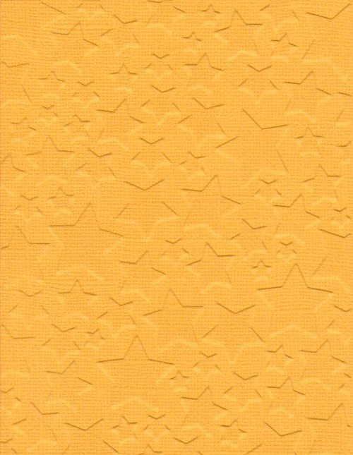 Embosovaná čtvrtka A6 - hvězdy žluté