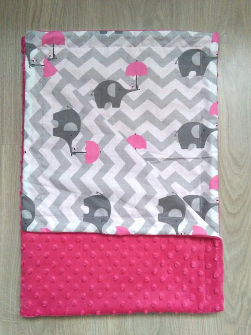 Dětská deka se slony na chevronu