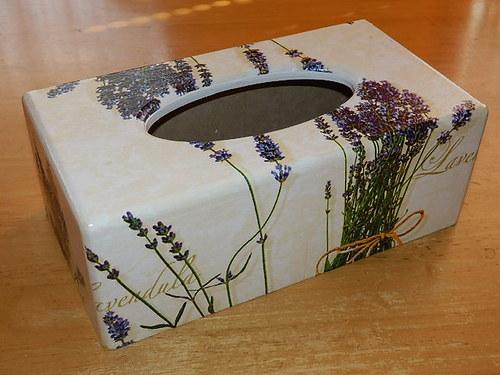 Krabička na kapesníky Levandule