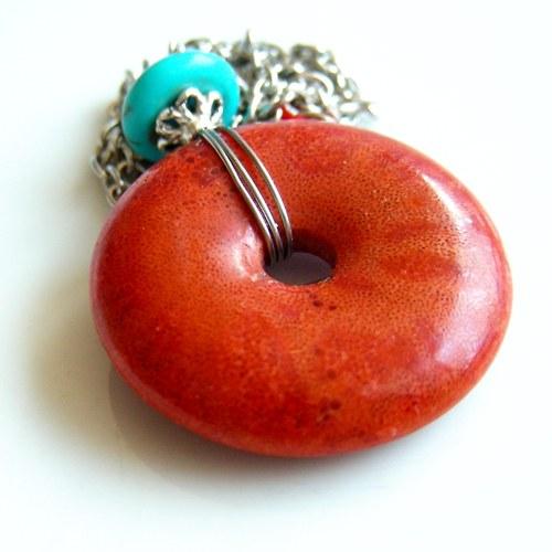 Náhrdelník - korálový donut