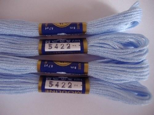 Vyšívací příze mouline - nebeská modrá