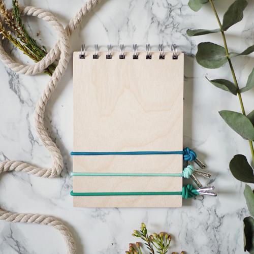 Dřevěný kroužkový zápisník/deník/blok A6 ŠESTERÁK