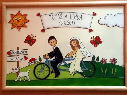 Svatební - cyklisté :-)