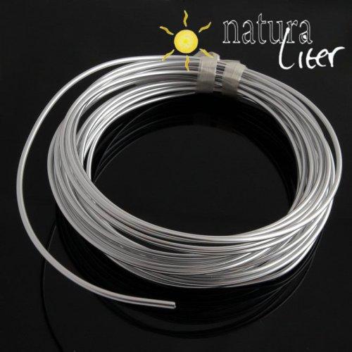 Hliníkový drát stříbrný, 2mm x 6m