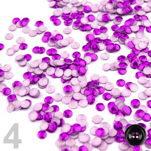 Flitry nažehlovací pr.3mm (5g) -fialová purpura AB