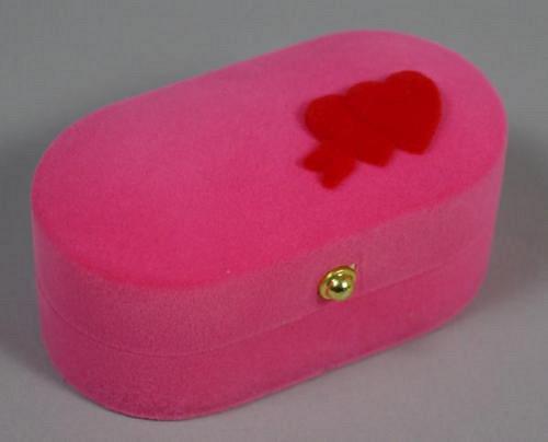 Sametová krabička na šperky - růžová krabička