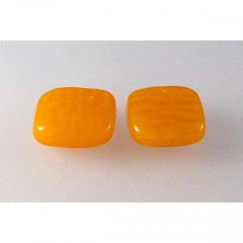Mačkané korálky opál jantar žlutý 16x15 4ks