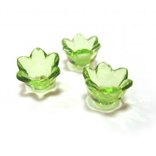 Květinka - zelená - 4ks