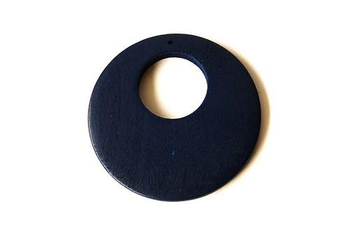Dřevěné kolečko - tmavě modré