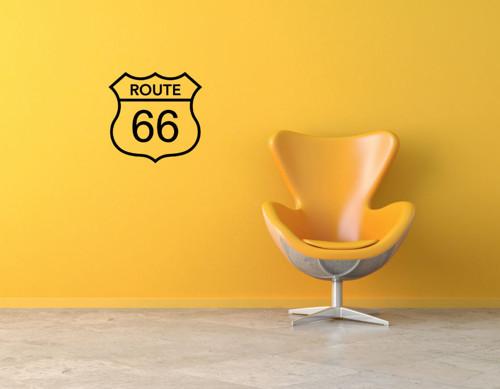 Samolepka na zeď - nápis Route 66