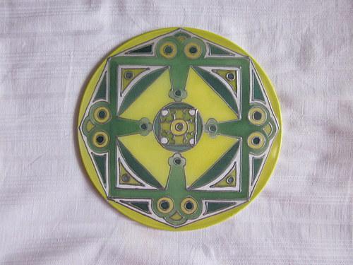 Malba na hedvábí Mandala I.