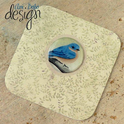Luxury card - Ptáček modráček