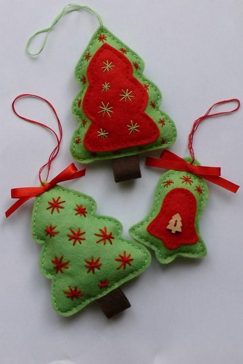 Vánoční dekorace 3ks