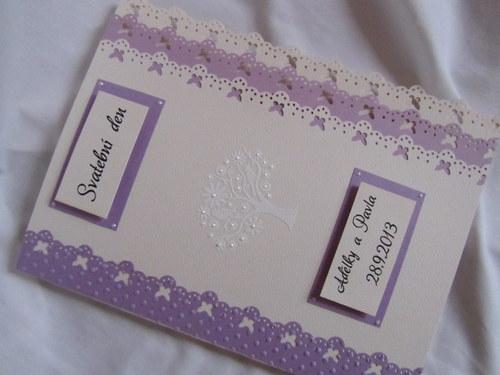 Svatební desky- butterfly Ivory, champagne lila