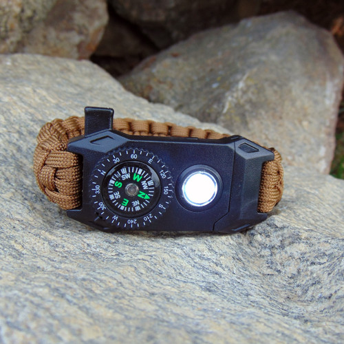 Survival náramek s LED světlem...