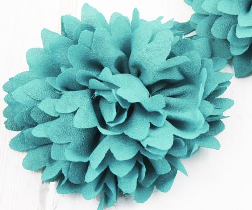 2ks Tyrkysová Zelená Předené Hedvábí Umělé Květiny