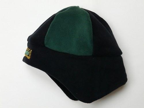 Čepice modro-černá se zelenou, OH-52cm