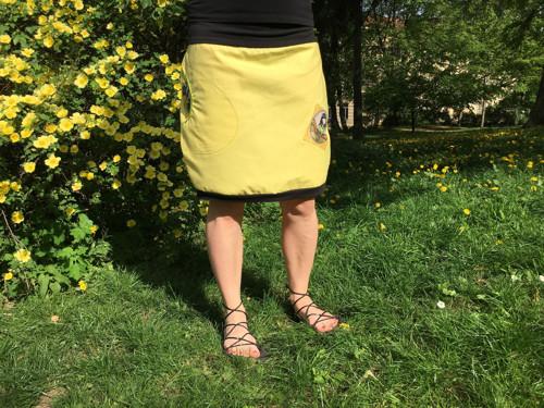 Sukýnka žlutá panenková